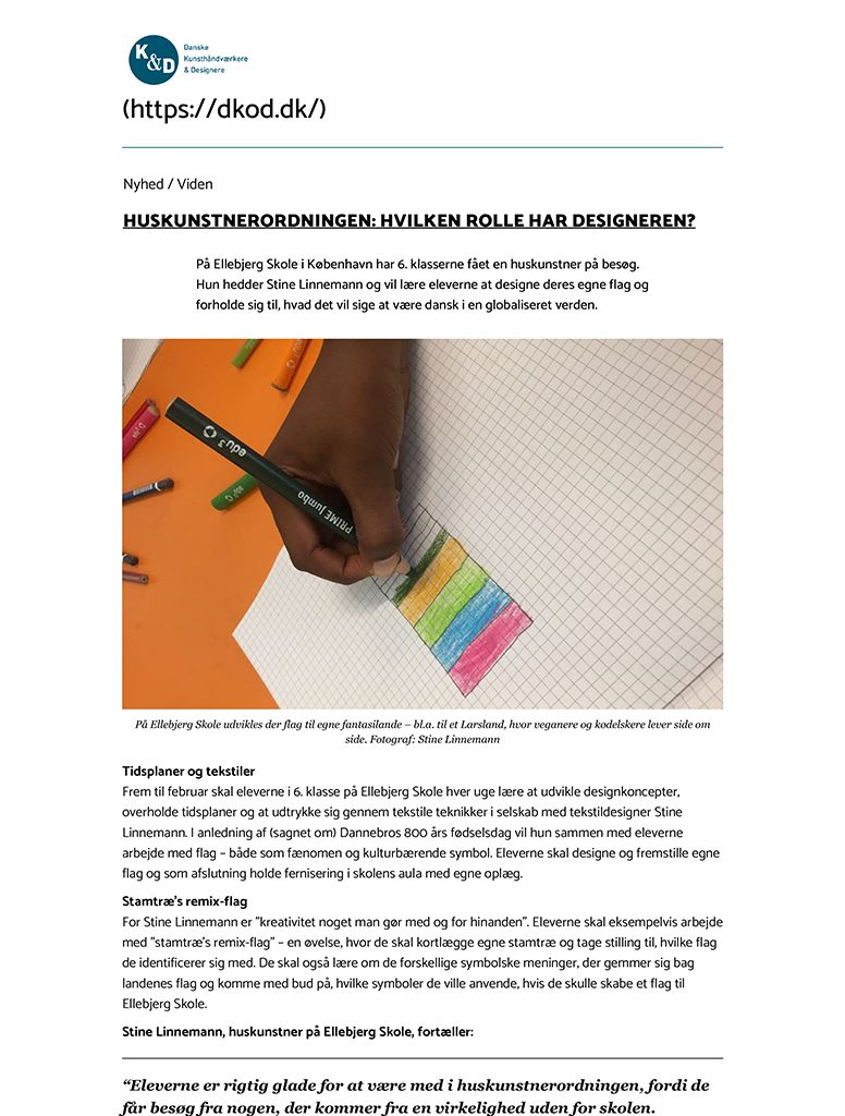 Huskunstnerordningen: Hvilken rolle har designeren? - Danske Kun